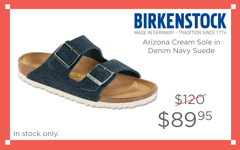 Birkenstock Arizona Cream Sole Navy