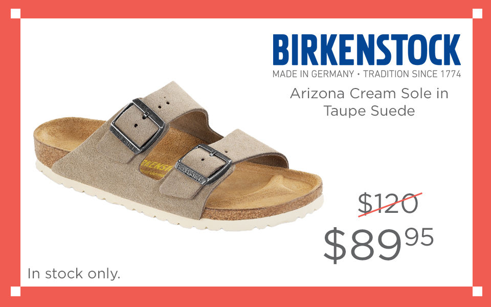 Birkenstock Arizona Cream Sole Taupe