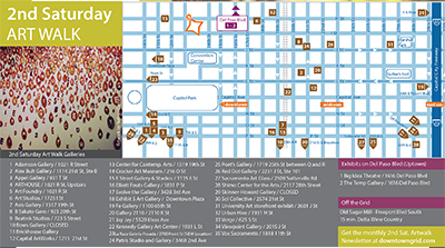 2nd Saturday Art Walk Map