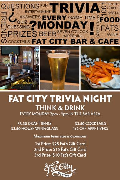fat city trivia night