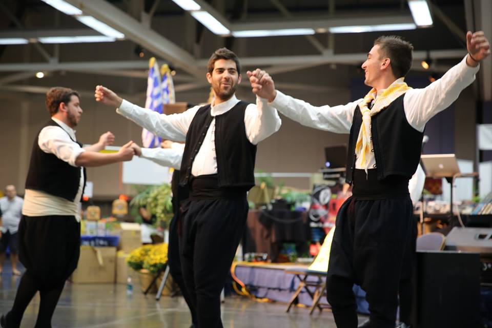 greek festival dancers