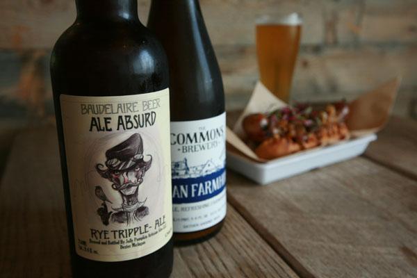 Lowbrau bierhall baudelair beer and sausage