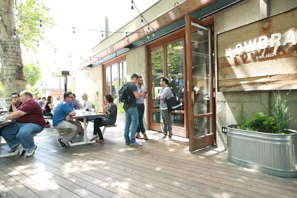 Lowbrau bierhall patio