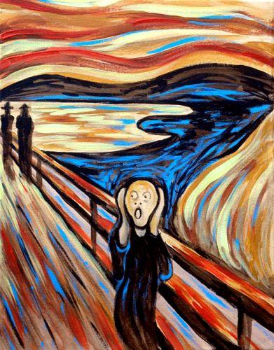 scream analysis painting