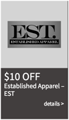 established apparel coupon