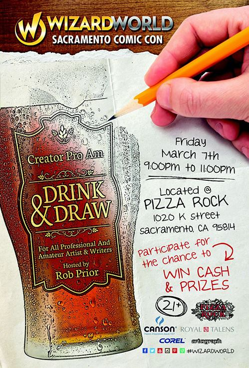 Drink & Draw Wizard World (Sacramento Comic Con)