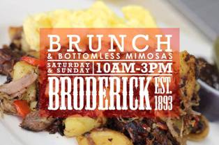 bottomless mimosa brunch at broderick