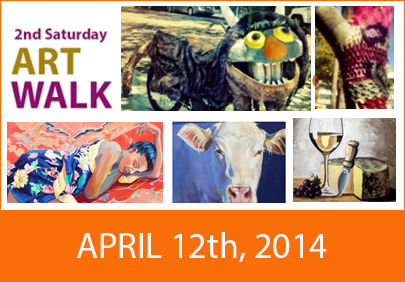 2nd Saturday Art Walk 4/12/14