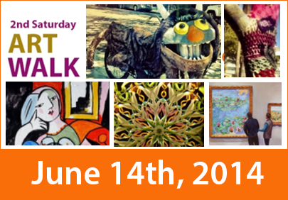 2nd Saturday Art Walk 6/14/14