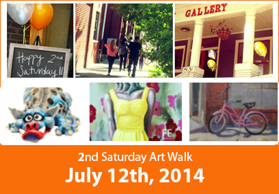 2nd Saturday Art Walk 7/12/14