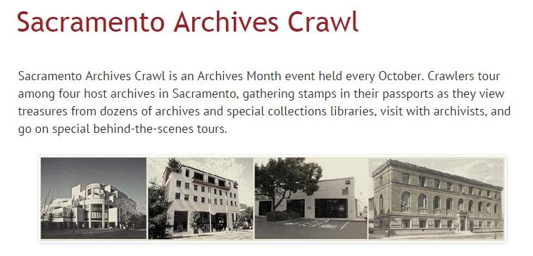 Sacramento Archives Crawl