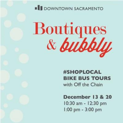 boutiques bubbly bike tour