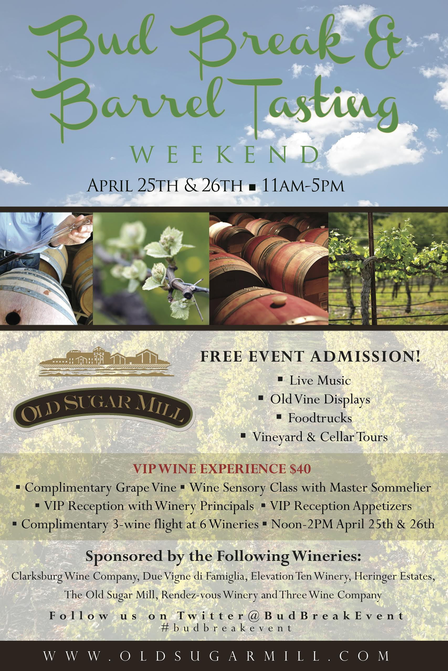 Bud Break & Barrel Tasting Weekend