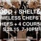 food shelter chefs dinner