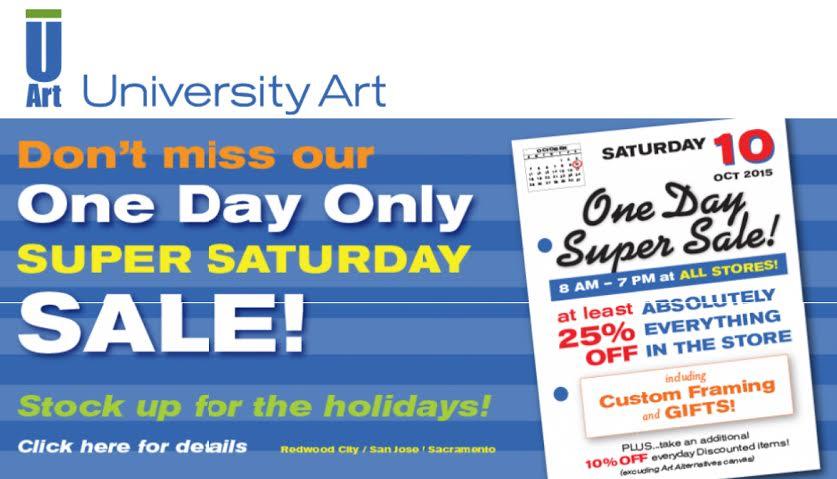 U Art: Super Saturday Sale