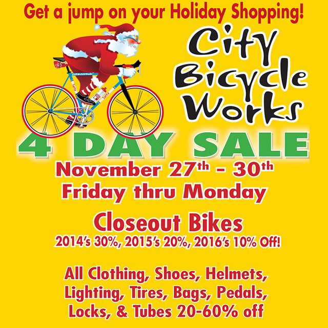City Bicycle Works: 4 Day Sale
