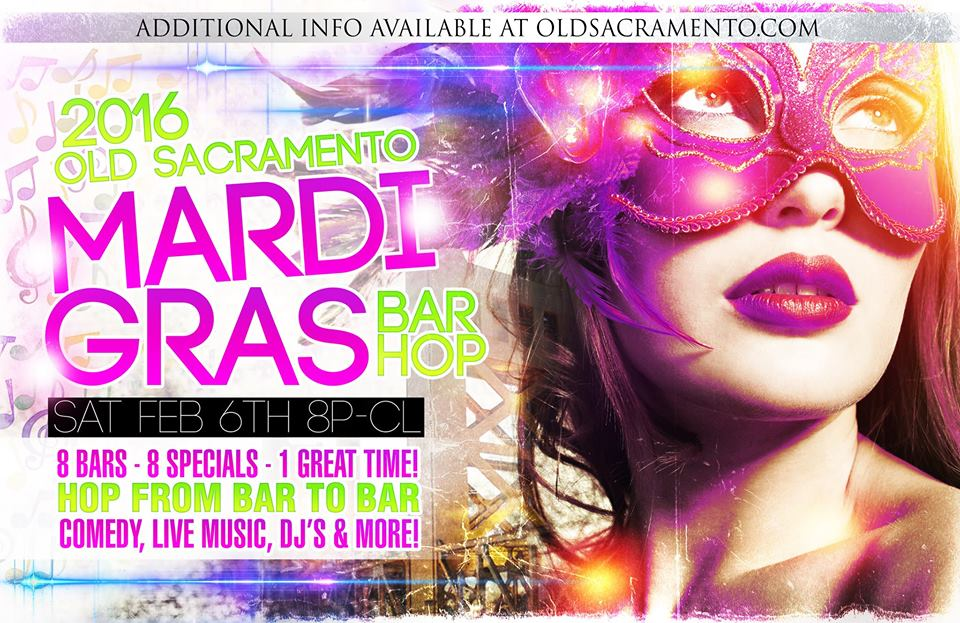 Old Sacramento Mardi Gras Bar Hop
