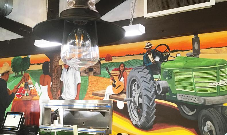 La Cosecha inside mural