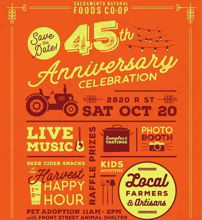 Sacramento Natural Foods Co-op's 45th Anniversary Celebration
