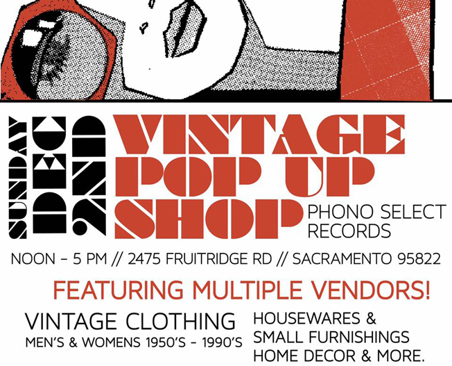 Vintage Pop-Up at Phono Select – Sacramento
