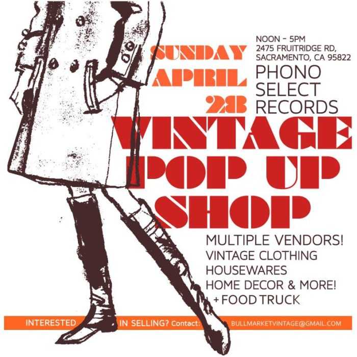 Vintage Pop-Up @ Phono Select – Sacramento