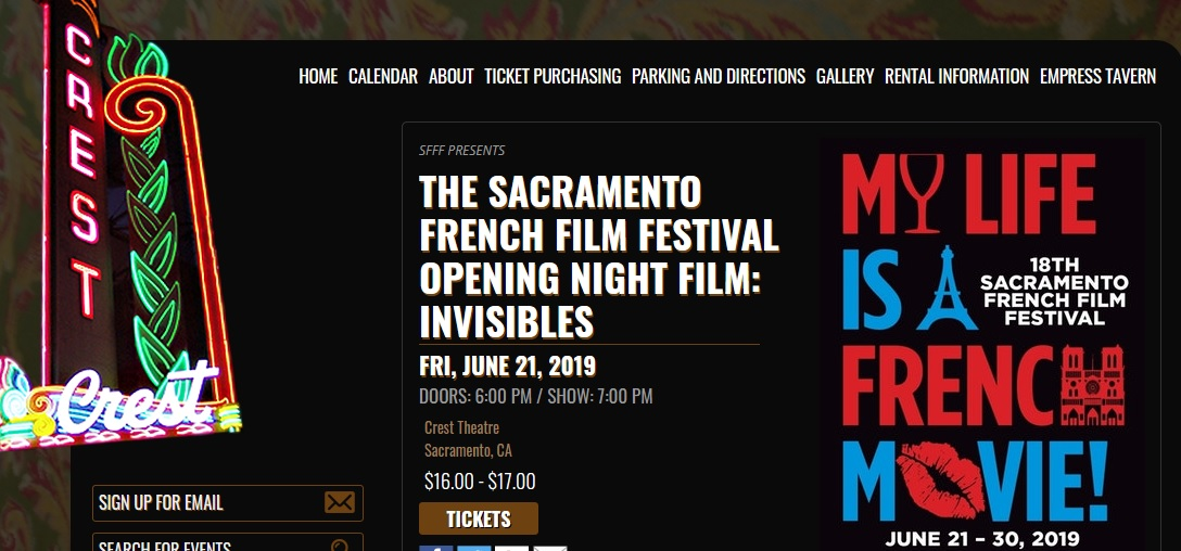 2019 Sacramento French Film Festival
